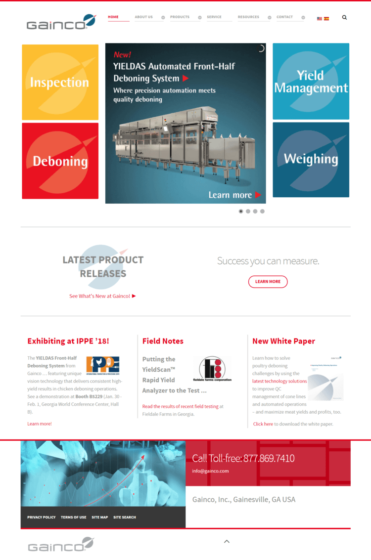 food-processing-equipment-manufacturer-website-development-home-page