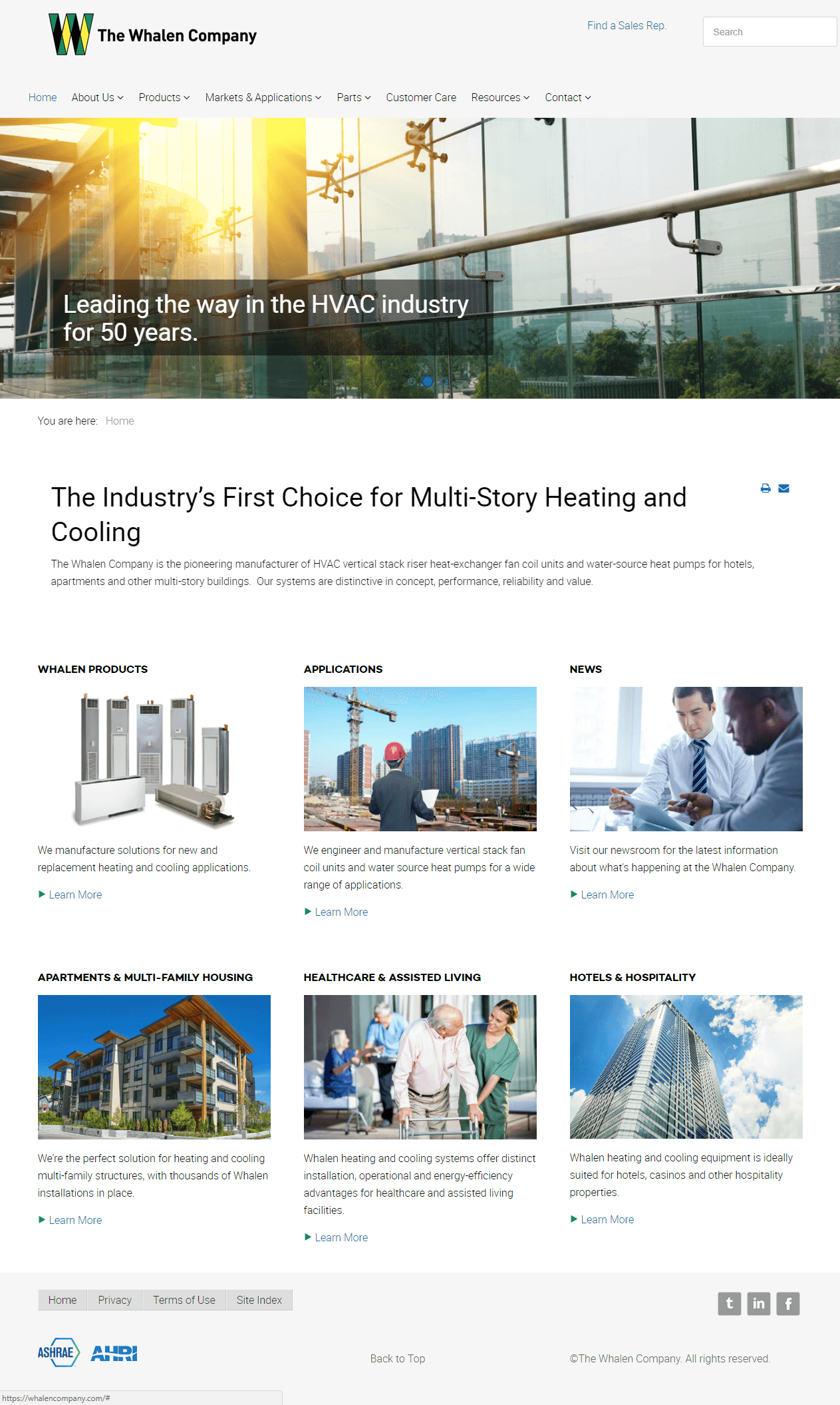 hvac-manufacturer-company-website-design